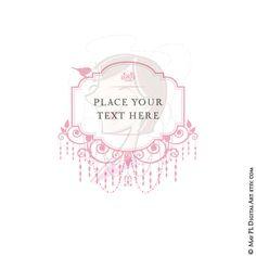 items similar to chandelier retro frame silhouette blush pink ornate borders transparent background cardmaking wedding scrapbooking clip art png files 10460 background pink chandelier
