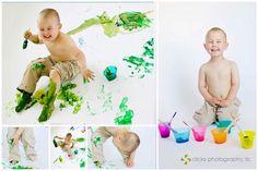 creative child photography - children's paint studio session  {copyright 2012 michelle zahn photography}