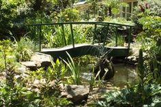 romantic garden bridge
