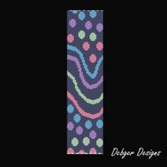 L'Artista rilievo Peyote braccialetto bracciale di FUNPATTERNDESIGNS
