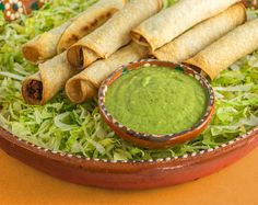 Dunk taquitos, chips, or fresh cut veggies in this tangy dipping sauce made from fiber-rich avocados and delicious small green fruits called tomatillos. Taquito Sauce Recipe, Sauce Recipes, Avocado Tomatillo Salsa, Green Fruit, Ripe Avocado, Time To Eat, Queso, Dishes