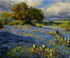 Landscape painting - Artist: Mark Haworth - Title: April Rain -- This is a very Texas look, oil. Landscape Painting Artists, Nature Paintings, Beautiful Paintings, Landscape Art, Oil Paintings, Love Painting, Painting & Drawing, Southwest Art, Painting Inspiration