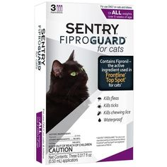 Sentry Fiproguard Flea And Tick Drops For Cats Over 1.5 lbs and over 8 weeks of age, Net Contents: 0.0051 fl oz three 0.0017 fl oz applicators >>> To view further for this item, visit the image link.