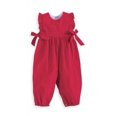 Berkley Overall in Red by Bella Bliss