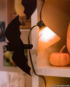 How to make Clothespin Bats. So simple and really fun for Halloween Decorating! from Martha Stewart