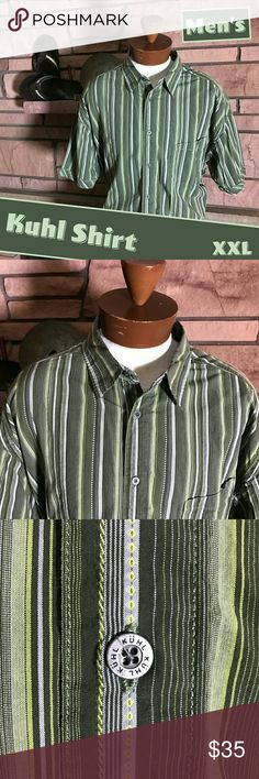 🆕 Men's Kuhl Suncel Shirt This is a sweet bohemian-style men's short sleeve shirt with sunscreen built right in! It is in EUC and ready to join you on your next adventure.   From a smoke-free and happy-to-bundle closet.   No trades or transactions outside of Poshmark.  [T512] Kuhl Shirts Casual Button Down Shirts