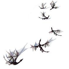 6 Increíbles Dragones 3D realistas, transparentes, negros, inspiración Juego de Tronos. Decoración de paredes, de fiestas o para regalar. de EydavyDesign en Etsy