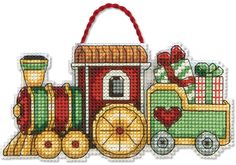 Train Christmas Ornament - Cross Stitch Kit