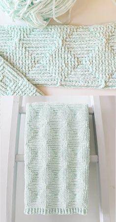 Crochet Afghans 371687775496386593 - Free Crochet Blanket Pattern – Ribbed Diamond Blanket Source by margueritescrap Crochet Afghans, Knit Or Crochet, Crochet Crafts, Crochet Stitches, Crochet Projects, Free Crochet, Kids Crochet, Booties Crochet, Crotchet