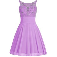 Icy Sun Women's A Line Beads Short Homecoming Dresses Rhinstone... ($62) ❤ liked on Polyvore featuring dresses, gowns, short sequin dress, beaded prom dresses, short purple dresses, a line prom dresses and prom gowns
