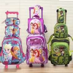Good Quality Many model FZ trolly school bag set trolley luggage backpack kids luggage 3pc one set for boys and girls