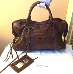 3bac87a8dc8 Balenciaga Marron Chevre Goat Bag - Satchel in Brown - Rare and  Discontinued Leather! Comes