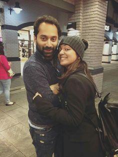 Nazriya with Fahad in London