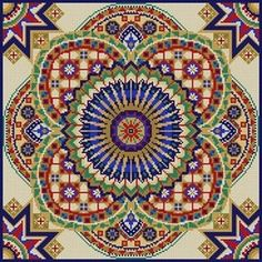 Tile Pattern 13 Mesh 14 x 14 Treglown Designs - The NeedleArt Closet Cross Stitch Borders, Counted Cross Stitch Patterns, Cross Stitch Charts, Cross Stitch Designs, Cross Stitching, Cross Stitch Embroidery, Tapestry Crochet, Needlepoint Canvases, Bargello