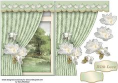 Room with a View White Posy on Craftsuprint - Add To Basket!