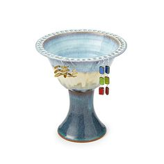 The Lace Pedestal Earring Bowls color is fab too!!!  tall pedestal jewelry bowl... for $52 #uncommongoods