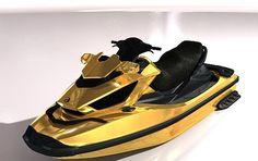 WEB LUXO - NÁUTICA: Jet Ski em ouro é feito sob medida para iates de luxo