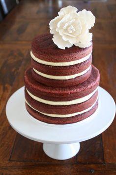 Naked red velvet cake #nakeccake