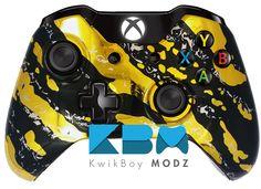 KwikBoy Modz | Custom Controllers  Gold Chrome Splatter Xbox One Controller  #KwikBoyModz #CustomController #XboxOne #XboxOneController #Gaming #Gold