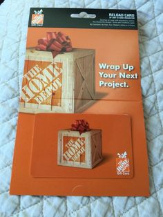Gift Cards: $100 Home Depot Gift Card - Free Shipping -> BUY IT NOW ONLY: $94 on eBay!