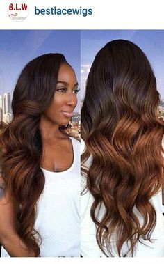 Long and flowing ombre hair