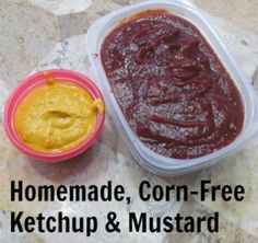 Its not a pretty picture, but it does prove that I did indeed make homemade ketchup and mustard! You can too.