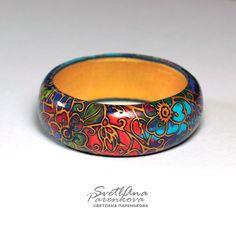 Светлана Паренькова. Украшения. Svetlana Parenkova http://www.livemaster.ru/parenkova   #украшения  #jewelery #полимерная_глина  #polymerclay #комплект #мода #цвет #color
