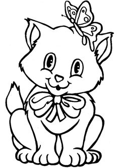 Dibujo para colorear de gatos (nº 7)