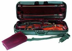 Concord Double Violin Case 4/4 by Concord. $380.00. This professional double case is made by Concord International Group, Inc. This is part of the Concert Series which features a water resistant cordura cover, velvet lining with suspension, deluxe leather handle and back-pack ready. The double case can hold two full size violins with two accessory pockets. The Exterior-Interior Color Scheme is as follows: Exterior (black) with an Interior (burgundy, blue, or green); Exterior (blu...
