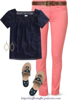 Coral and Navy... I really like this.