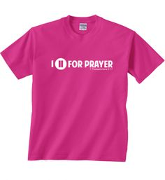 I Pause For Prayer Youth Tee on SonGear.com
