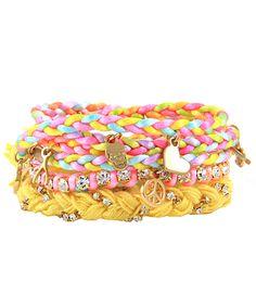 Ettika Pastel Multi Charm Stack Bracelet-Katy Perry