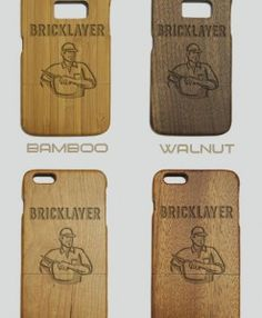 http://woodcases.co/product/bricklayer-engraved-wood-phone-case/