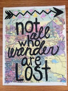Canvas Painting Wander Map Quote by kalligraphy on Etsy Diy Canvas, Canvas Art, Canvas Ideas, Canvas Paintings, Quote Paintings, Map Painting, Blank Canvas, Craft Projects, Projects To Try