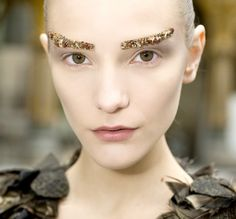Chanel brows from Paris Fashion Week, F/W 2012