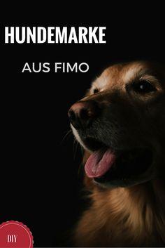 Ihr möchtet schöne, individuelle Hundemarken für euren Hund? Aus Fimo kann man die wunderbar selber herstellen!
