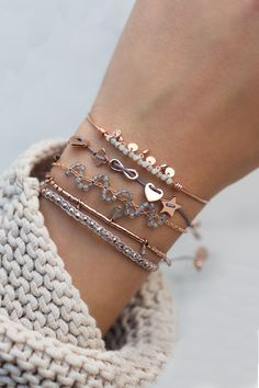 Gemstone beads, delicate textile and meaningful symbols make you stand out #bracelets #jewellery #symbols #rosegold WWW.NEWONE-SHOP.COM
