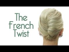 French twist for medium and short hair. Kinda lame in the beginning (with the acting) but a very useful and easy to follow tutorial.