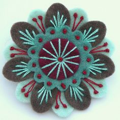 FELT ANENOME BROOCH | Flickr - Photo Sharing!