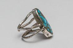 Silver ring with turquoise - handmade. Silver Jewellery, Jewelery, Silver Rings, Gemstone Rings, Turquoise, Gemstones, Handmade, Design, Fashion