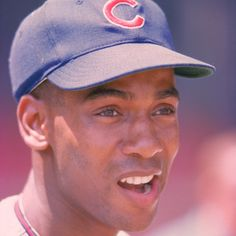 Baseball player Ernie Banks is regarded as one of the finest power hitters in history and was the holder of most of the Chicago Cubs' offensive records. Chicago Cubs Baseball, Chicago Bears, Baseball Equipment, Baseball Stuff, Baseball Cards, Baseball Classic, Cubs Win, Go Cubs Go, American Sports