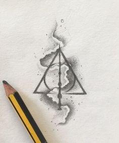 Deathly Hallows tattoo design ✨