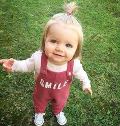 Just smile, cute little girl