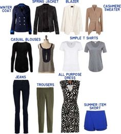 http://www.polyvore.com/cgi/set?id=110503143   A very well thought out plan for a functional minimalist wardrobe.