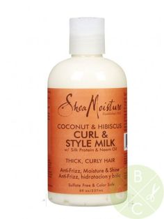 (GREAT PRODUCT FOR FINE STRANDS BUT DENSE AMOUNT OF HAIR, use exactly as stated!!!! My hair loves this!)  Shea Moisture Coconut & Hibiscus Curl & Style Milk 8oz