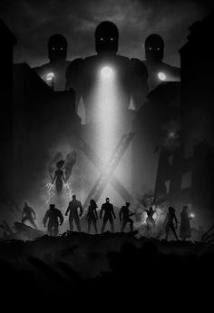 X- Men noir superhero poster created by artist Marco Manev - Geektyrant.com Possible sticker and label background...