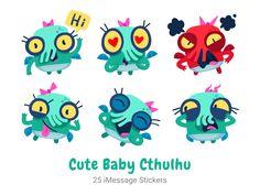 Cute Baby Cthulhu by Ilvira Nasreddinova