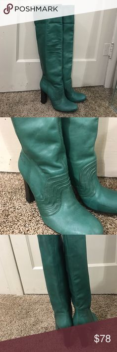 Miss sixty made in Italy soft green leather CA 31092 RN 103975 made in Italy extremely soft distressed leather in great used shape some minor wear as pictured Miss Sixty Shoes