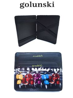 Style 946 Leather Magic Wallet Credit Card Holder Scooters By Golunski from Baked Apple