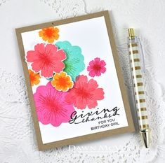 Giving Thanks For You Card by Dawn McVey for Papertrey Ink (June 2015)